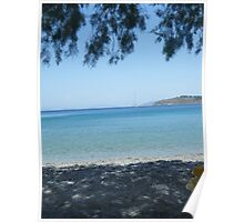 Greek Island Beach Patmos Poster