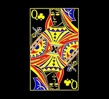 iphone case - Queen of Clubs by Mark Podger