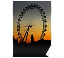 Sunset on the London Eye & Big Ben Poster