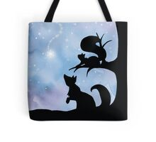 Woodland Shadows - Fox and Squirrel:Winter Tote Bag