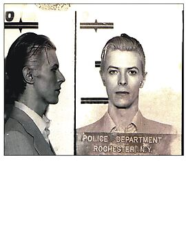 Bowie Mugshot  by BUB THE ZOMBIE