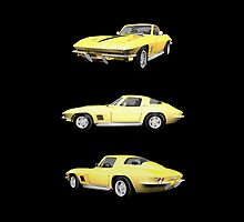 Yellow 1967 Corvette Stingray by bradyarnold