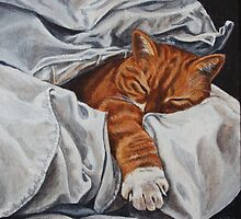 Mucky Paws - Mr Tibbs by EJLazenbyArt