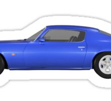 Blue 1972 Camaro  Sticker