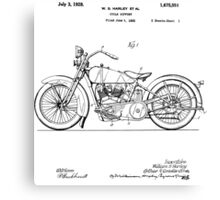 Motorcycle Patent 1925 Canvas Print