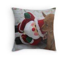 Amelia - Are You Santa? Throw Pillow
