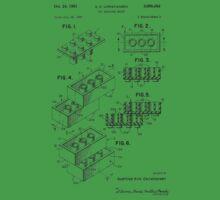 Toy Building Brick Patent  Kids Tee