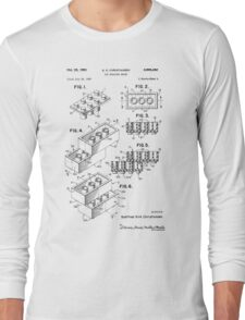 Toy Building Brick Patent  Long Sleeve T-Shirt