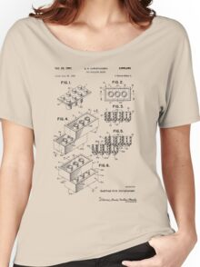 Toy Building Brick Patent  Women's Relaxed Fit T-Shirt