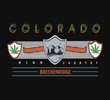 "Marijuana Breckenridge Colorado ""High Country"" by MarijuanaTshirt"