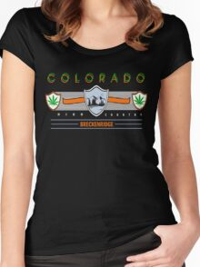 "Marijuana Breckenridge Colorado ""High Country"" Women's Fitted Scoop T-Shirt"