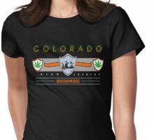 "Marijuana Breckenridge Colorado ""High Country"" Womens Fitted T-Shirt"