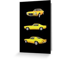 Yellow 1972 Camaro  Greeting Card
