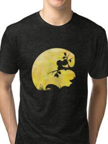 Woodland Shadows - Fox and Squirrel:Summer Tri-blend T-Shirt