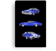 Blue 1970 Chevelle SS Canvas Print