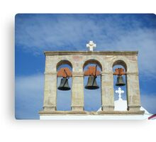 Greek Island Church bells Canvas Print