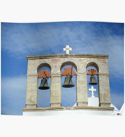 Greek Island Church bells Poster