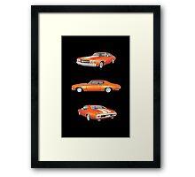 Orange 1970 Chevelle SS Framed Print