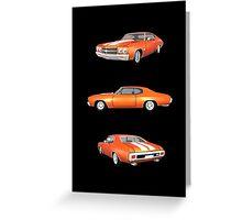 Orange 1970 Chevelle SS Greeting Card