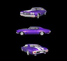 Purple 1970 Chevelle SS by bradyarnold