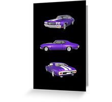Purple 1970 Chevelle SS Greeting Card
