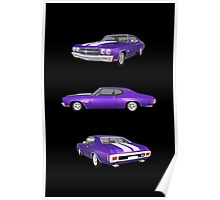 Purple 1970 Chevelle SS Poster