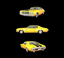 Yellow 1970 Chevelle SS by bradyarnold