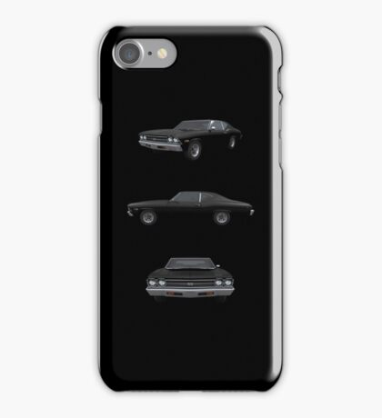 Black 1969 Chevelle SS iPhone Case/Skin