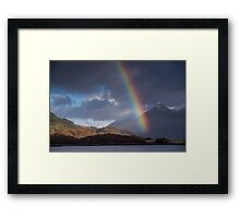 Rainbow at Kinlochleven, and the Pap of Glencoe, Scotland Framed Print