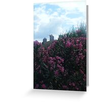 Greek Island Patmos Windmills Greeting Card