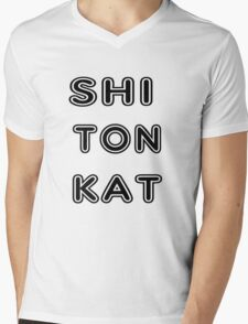Urban Kat Lingo Mens V-Neck T-Shirt