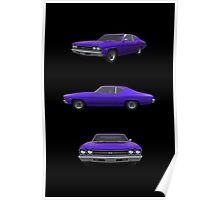 Purple 1969 Chevelle SS Poster