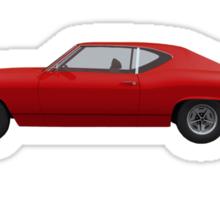 Red 1969 Chevelle SS Sticker