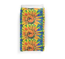 Bright and Cheerful Single Sunflower Acrylic Painting Duvet Cover
