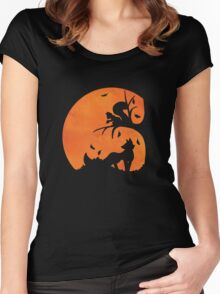 Woodland Shadows - Fox and Squirrel:Autumn Women's Fitted Scoop T-Shirt