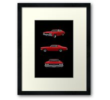 Red 1969 Chevelle SS Framed Print