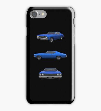 Blue 1968 Chevelle SS iPhone Case/Skin