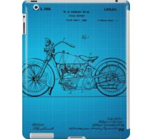 Motorcycle Patent 1925 - Blue iPad Case/Skin