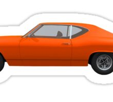 Orange 1968 Chevelle SS Sticker
