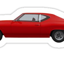 Red 1968 Chevelle SS Sticker