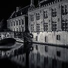 Canals of Bruges at Night by neal73