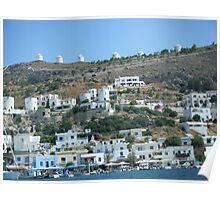 Patmos Greek Island Windmills #photography Poster