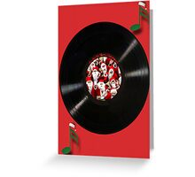 HO HO HO SANTA RECORD MERRY CHIRISTMAS Greeting Card