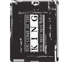 """You Come at the King, You Best Not Miss"" - The Wire (Light) iPad Case/Skin"