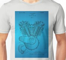 Engine patent from 1919 - Blue Unisex T-Shirt