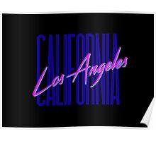 Retro 80s Los Angeles, California Poster