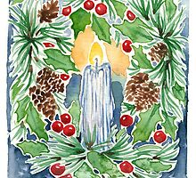Pine and Holly Wreath by Danelle Malan