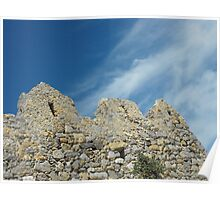 Patmos Greek Island church walls #photography Poster