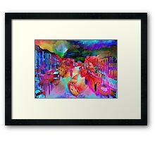 No Spanking The Monkey WEAR© Monkey Painted Italy Framed Print