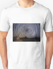 Time-exposure of polar star trails. T-Shirt